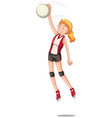 a female volleyball character vector image vector image