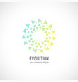 abstract circle logo isolated logotype vector image vector image