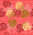 abstract roses pink and gold background flower vector image vector image