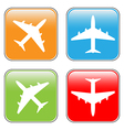 Airplane buttons set vector image
