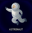 astronaut in space icon cartoon style vector image