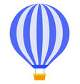 balloon with a basket icon flat isolated vector image
