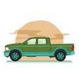 big all wheel drive pickup truck vector image