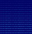 Binary computer language monitor digits vector image