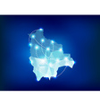 Bolivia country map polygonal with spot lights