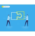 Businessmen connect puzzle vector image vector image