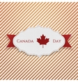 Canada Day Sign on realistic Tag vector image vector image