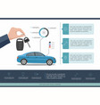 car auto service template infographic vector image vector image