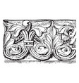 carved band are from liebfrauenkirche vintage vector image vector image