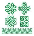 celtic irish patterns and braids - design vector image