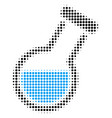 chemistry tube halftone icon vector image