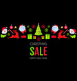 christmas sale season design template paper art vector image