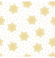 christmas seamless pattern with snowflakes vector image vector image