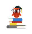colorful educational logo and back to school vector image