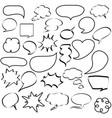 comic speech bubbles dialogs icons vector image vector image