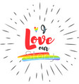 conceptual poster with lgbt rainbow hand lettering vector image