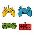 controller console set video game different color vector image vector image
