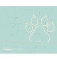 Creative animal footprint Art vector image vector image