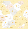 cute baby chick seamless pattern vector image
