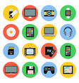 digital devices flat icons computer laptop vector image vector image