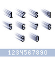 digits numerals created in 8 bit style pixel art vector image vector image