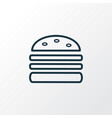 double burger icon line symbol premium quality vector image vector image
