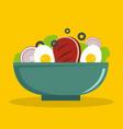 egg salad icon flat style vector image