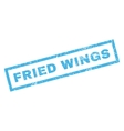 Fried Wings Rubber Stamp vector image vector image