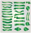 Gold and green ribbon vector image vector image