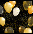 gold balloon background vector image vector image