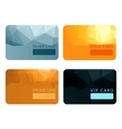 Gold silver bronze VIP premium member cards vector image