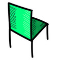 green chair on white background vector image vector image