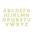 green floral alphabet font uppercase letters made vector image