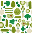 green vegetable icon seamless pattern concept vector image