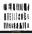 grunge ink brush strokes design elements vector image