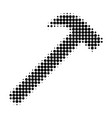 hammer tool halftone dotted icon vector image