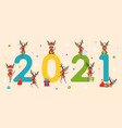 happy new year 2021 collection characters of vector image vector image
