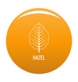 hazel leaf icon orange vector image vector image