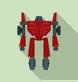 hero robot transformer icon flat style vector image vector image