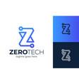 initial letter z tech logo design element letter vector image vector image