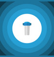 isolated filtration flat icon water filter vector image