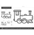locomotive line icon vector image vector image