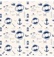 Marine pattern ballpoint pen vector image
