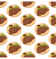 meat steak pattern vector image vector image