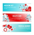 Medical health care banners vector image