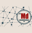 mendelevium chemical element vector image vector image