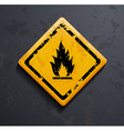 metal sign fire vector image vector image