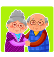 old couple vector image