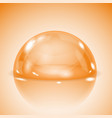 orange glass dome shiny transparent semi sphere vector image vector image