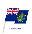 Pitcairn Islands Ribbon Waving Flag Isolated on vector image vector image